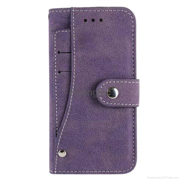Leather Wallet Case with Credit Card Slot Photo Frame Slot