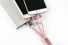 2 in 1 Key Chain USB Data Charging Cable Sync Lightning Charger Charger Line