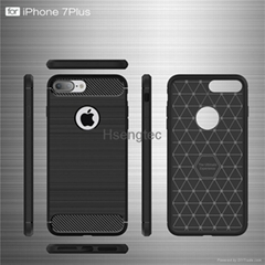 Rugged Armor Shock Full Protection Shock Resistance Carbon Fiber Soft Back Cover