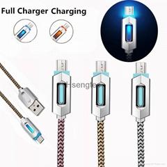 LED Braid Braided V8 Micro USB Charger
