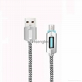 LED Braid Braided V8 Micro USB Charger Lightning Charging Data Line Cable Wire