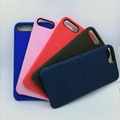 Solid Silicone Case Candy Color Cover Soft Rubber Ultra Thin for iPhone x 8 Plus