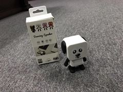Dancing Speaker Dog Robot Bluetooth Speaker Small Mini Walking Toys Stereo Music