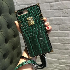 Luxury Grid Leather Croc