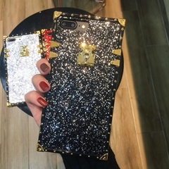 Luxury Fashion Bling Shining Glitter Shimmering Powder Back Cover Flash Powder