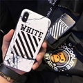 Off White Back Cover Marble Skin Texture