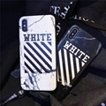 Off White Back Cover Marble Skin Texture Phone Case for iPhone 4.7 5.5