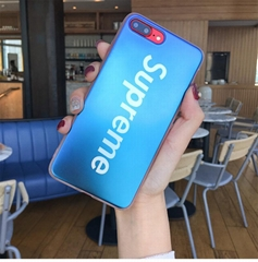 Supreme Cover Blue-Ray Blue Ray Mirror Back Case for iPhone X 7 8 8plus 7plus 6s