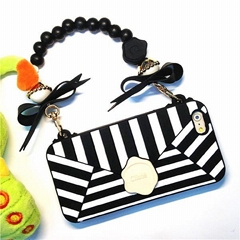 Candies Cliche Silicone Wallet Case Soft Cover Handbag Lanyard
