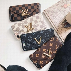 Luxury Brand Leather Wallet Case Flip Cover Simple Style Holster for iPhone X 6