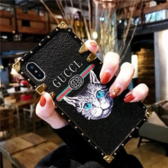 Luxury Brand Gucc GG Guccl Cat European Gucc Leather Cover Holster Case Shell