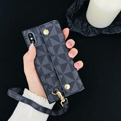 Famous Brand Louis V Square GG Guccl Wallet Leather Pouch Holster Stent Case