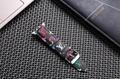 Luxury Brand Checkerboard Pattern Leather Watchband Printed Flower Watch Strap 7