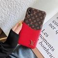 Vegan Leather Card Slot LV Case Plaid