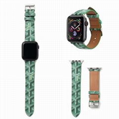 Goyard Leather Watch Bands Goyard Holster Watchband for iWatch 38mm 44mm 40mm