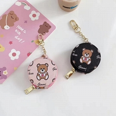 Jimmy          Bear Zipper Leather Pouch Bag  Designer Csae with Plating Buckle