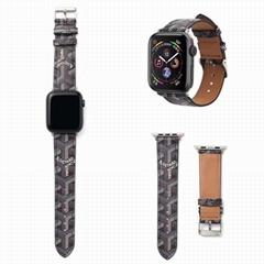 Luxury Designer Goyard Wristband Strap Paris Goyard iWatch Wrist Band Bracelet
