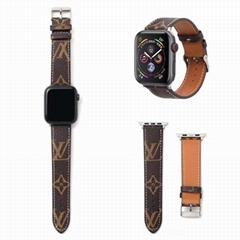 Luxury Designer               Plaid Print iWatch Wrist Strap    Leather Band