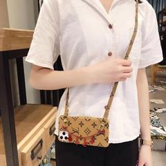 Paris Wristband Bracelet Louis Vuitton Leather Case Crossbody Lanyard LV Cover