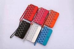 Luxury Goayrd Leather Wallet Clutch Phone Case Wristband Bracelet Paris Shell