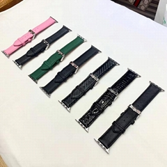 Luxury Designer       Leather iWatch Watch Bands Paris       Bracelet Strap