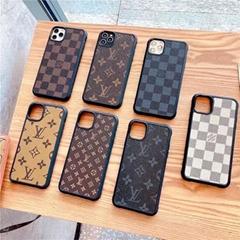 Luxury Designer Case Plaid Print               Leather Back Case Paris    Shell