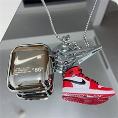 Plating      Lanyard Case for Apple Airpods2 Pro with 3D Sneaker Pendant Keyring
