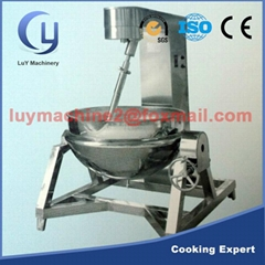 Stainless steel jacketed kettle for food