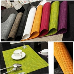 pvc coacted pet woven placemat. china supplier  at table mat