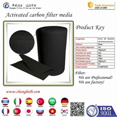 polyester 480g 10mm fiber activated carbon water filter media