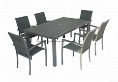 Brush painting dining set