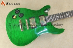 Shengque Left Handed Quilted Maple PRS Electric Guitar