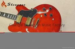 Shengque F Hole Hollow Body Jazz Electric Guitar
