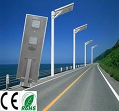 Manufacturer supply IP65 6W-80W all in one solar street light with motion sensor