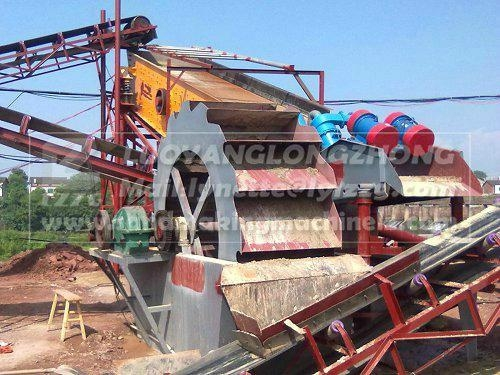 LZZG high quality 30t sand washing recycling and dewatering line  3