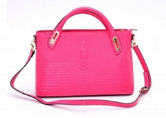 Fashion Ladies Leather Handbags / Womens Tote Bags with pocket