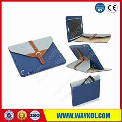 Leather tablet case for ipad 2 3 4