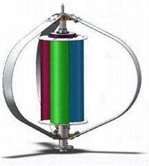 12V 200W Maglev Wind Turbine , Wind Solar Hybrid LED Street Light VAWT Maglev
