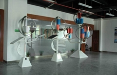 Commercial Vertical Axis Maglev Wind Turbine for Group Showroom Exhibition 200W