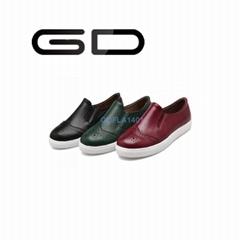 GD retro romantic carve patterns british style fashion flat shoes for women