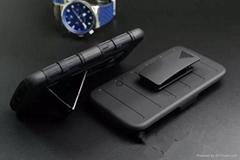 Black Rugged Hybrid Hard Case For Samsung Galaxy S6