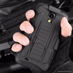Black Rugged Hybrid Hard Case For Samsung Galaxy S4 i9500