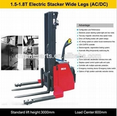 High Quality 1.8T Electric Stacker Mini foklift