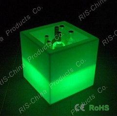 LED light flower pot and LED ice bucket