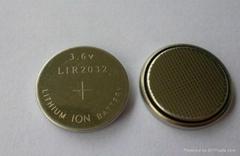 lir2032 3.6v焊脚电池 太阳能手电同电池