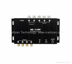 Car DVB-T2 Digital TV Receiver with Four Tuner