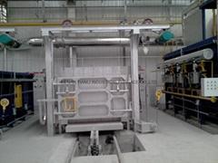 Car bottom electric resistance heat treatment furnace