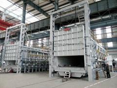Ceramic fiber gas fired bogie hearth furnace