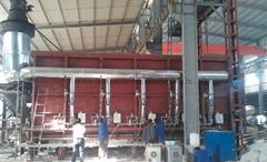 variable capacity gas fired car bottom furnace