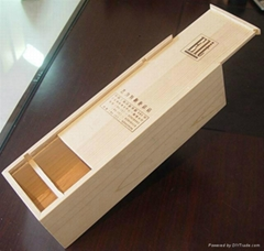 wood wine boxes for single bottle VERY CHEAP
